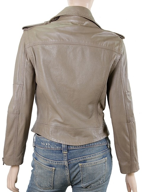 Zadig & Voltaire Leather Zipper Motorcycle Motorcycle Jacket