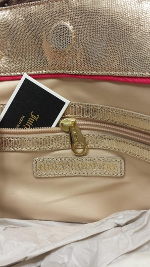 Juicy Couture Leather Woven Polyester Tote in T MORO