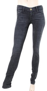 Current/Elliott Corduroy Distressed Skinny Jeans-Dark Rinse