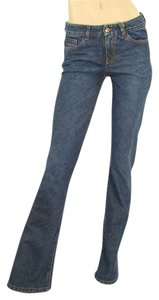 Donna Karan Denim Boot Cut Jeans-Dark Rinse