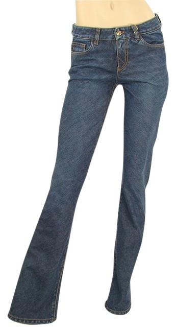 Donna Karan Denim Bootie Boot Cut Jeans-Dark Rinse