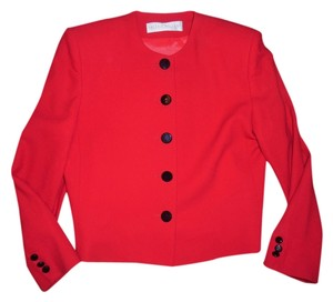 Valerie Stevens Fancy Church Office Career Shoulder Pads Vintage Red Jacket