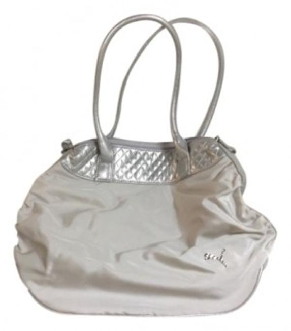 Item - Dazzle Shopper 06721303 Off White with Accents Silver Polyester Shoulder Bag