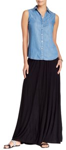 Vince Camuto Maxi Summer Navy Maxi Skirt Dark Blue