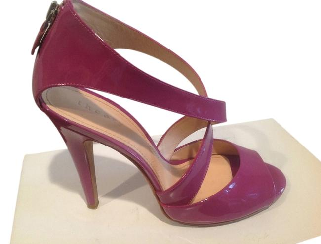 Item - Pink Patent With X Cross Foot Strap and Back Zipper Sandals Size US 8 Regular (M, B)