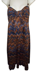 Banana Republic short dress Brown Multi Ethnic Print Tribal on Tradesy