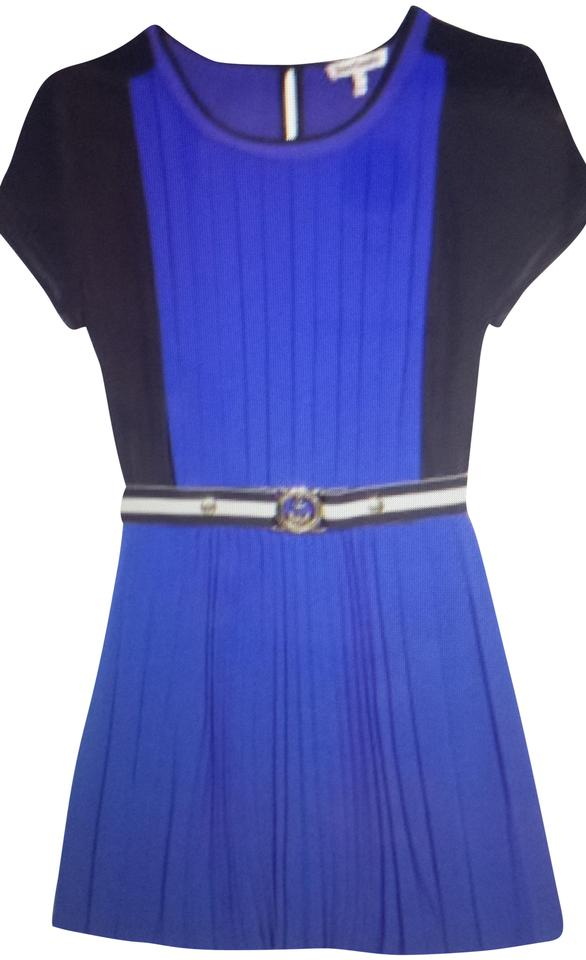 6d9c10c90ba Juicy Couture Color Block   Seaside Pleated Short Formal Dress Size ...