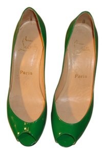 Christian Louboutin Green Patent Leather Pumps