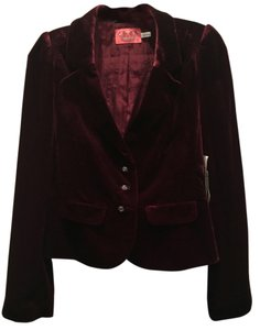 Juicy Couture Velveteen Party Date Night Burgundy Blazer