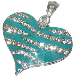 Other Turquoise and Enamel Rhinestone Magnetic Heart Pendant Free Shipping