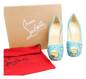 Christian Louboutin Red Sole Bollywood Multicolor Platforms