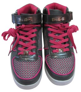 Baby Phat Size 8.50 M Looks New Gray, Pink Athletic