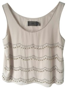 H&M Size 6 Beaded Sparkly Night Out Top Blush Pink