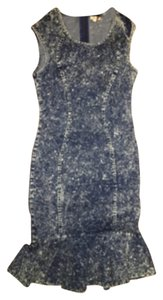 short dress Denim on Tradesy