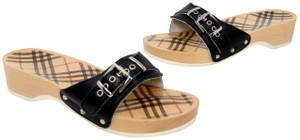 Burberry Brit Monogram Thong Flip Flop Brown Sandals