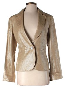 Lafayette 148 New York Metallic Linen Tan Blazer