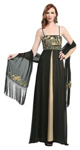 Sue Wong Metallic Chiffon Dress