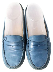 Tod's LIGHT BLUE LEATHER Flats