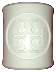 Tory Burch White Tory Burch Reva logo resin cuff