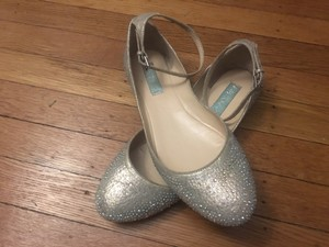 Betsey Johnson Silver/ Gold with Blue Bottoms Formal Size US 9 Regular (M, B)