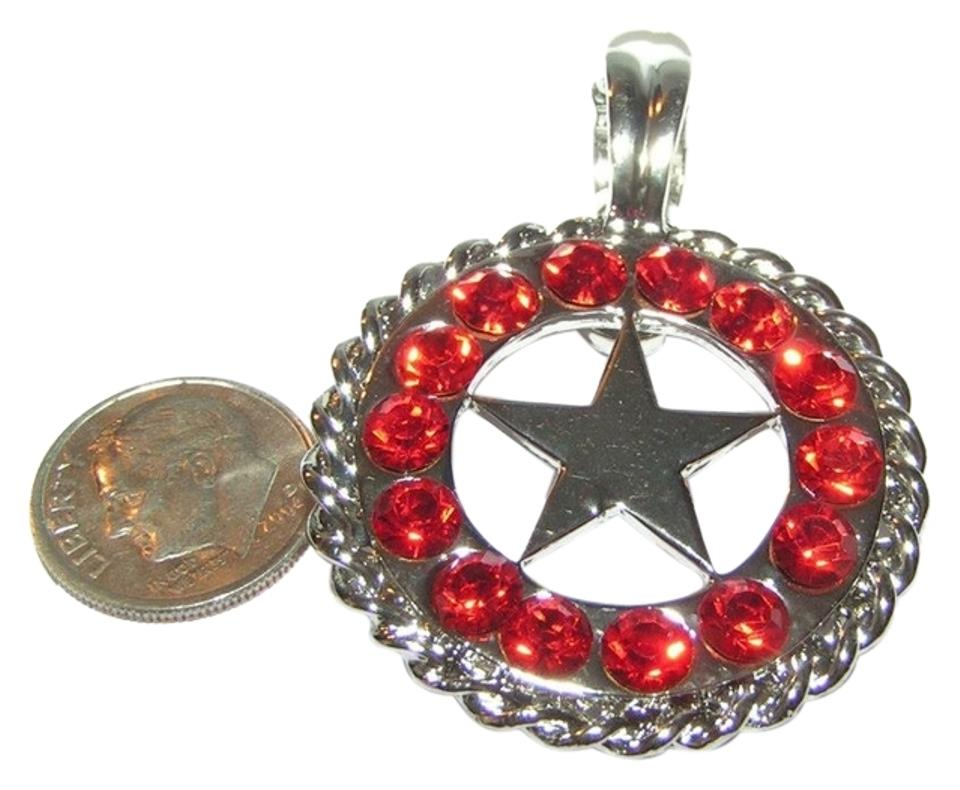 Claude Collection BOGO Free Red Rhinestone Texas Star Magnetic Pendant Free  Shipping 737845ae1277