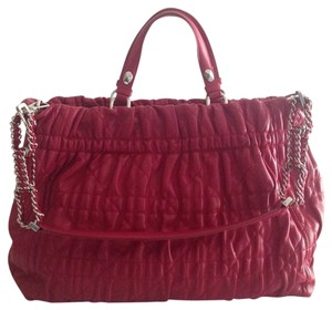 Christian Dior Cd Dior Designer Tote in Dark Pink
