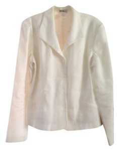 J.W. Treci Blazer Button Down Shirt White