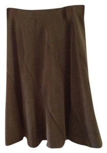 Dress Barn Flatter Maxi Skirt Suede Sage Green