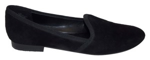 Nine West Lobster Suede Grosgrain Trim Smoking Slippers Size 6.5 Dress Up Dress Down Versatile Black Flats