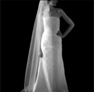 Bridal Co. White Chapel Plain Edge Veil