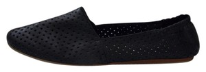 Steve Madden Perforated Leather Espadrille Style Size 6.5 Elasticize Heel Counter Style Name Sweet Black Flats