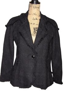 Chanel New With Tags Tweed Black Blazer