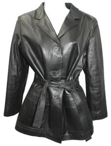 MANUEL HERRERO Leather BLACK Leather Jacket