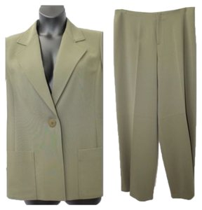 Ellen Tracy LINDA ALLARD ELLEN TRACY SINGLE BREASTED 2-PC. BLEND PANT SUIT 14 16