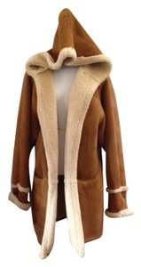 Shearling Suede Fur Coat