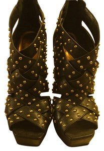 Jessica Simpson Black & Gold Pumps