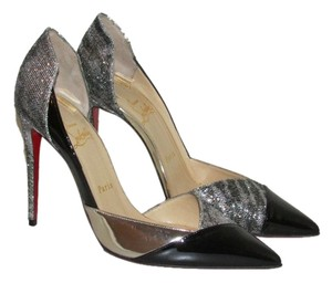 Christian Louboutin Black Patent Glitter Pumps