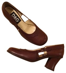 Dolce&Gabbana Leather Shoe Pump Brown Pumps