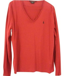 Ralph Lauren Polo Long Sleeves Logo Top red
