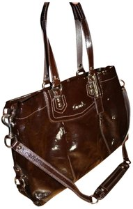 Coach Ashley Carryall Patent Leather Patent Leather Shoulder Bag