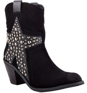 Penny Loves Kenny Cowboy Studded Star Black Boots