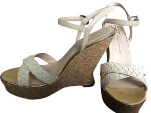 House of Harlow 1960 Sandals Nude Beige Wedges