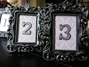 Ornate Wedding Table Numbers