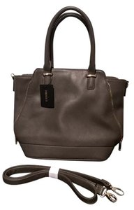 Forever 21 Zippers Satchel in Grey