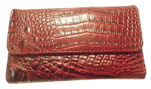 Other Gently pre-owned NO TAGS DESIGNER INSPIRED CHECKBOOK WALLET RED BLACK