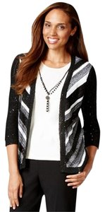 Alfred Dunner Sequin Layered Cardigan
