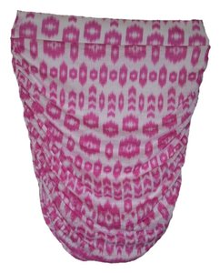 INC International Concepts Lined Pullon Style. Pencil Silhouette Ruched Sides Printed Mini Skirt Pink