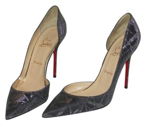Christian Louboutin Black Silver Pumps