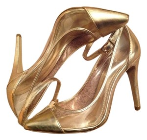 BCBGeneration Gold/Clear Pumps