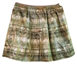 J.Crew Mini Skirt Green Plaid
